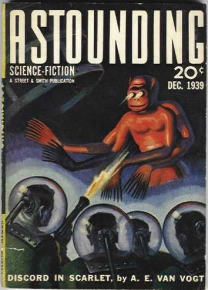 Astounding Stories 109 - Alien - Discord In Scarlet - Monkey - Gun - December 1939