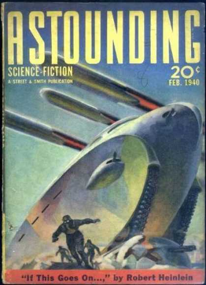 Astounding Stories 111 - February 1940 - Space Craft - Crash - If This Goes On - Robert Heinlein