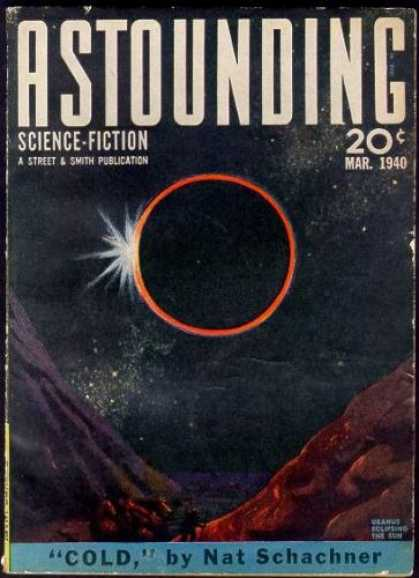 Astounding Stories 112 - Eclipse - Sun - Mountain - Stars - Space