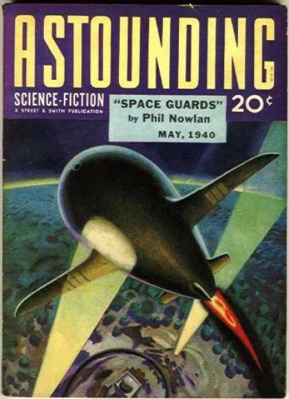 Astounding Stories 114 - Space Guards - May 1940 - Space Craft - Light Beams - Blast Off