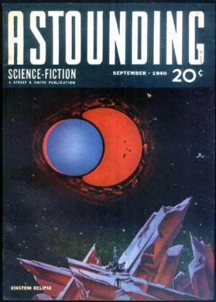 Astounding Stories 118 - September 1940 - 20 Cents - Double Planets - Einstein Eclipse - Lunar Scape
