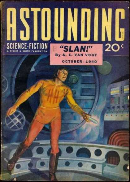 Astounding Stories 119 - Slan - Astounding - Science Fiction - Space - A E Van Vogt