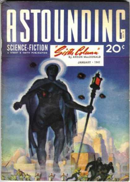 Astounding Stories 122 - Mysterious Figure - January 1941 - Staff - Clouds - People