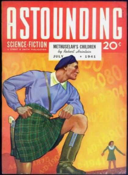 Astounding Stories 128 - Astounding - Science Fiction - Methuselahs Children - Man - Woman