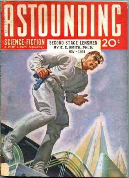 Astounding Stories 132 - November 1941 - Second Stage Lensmen - Towers - Buildings - Human