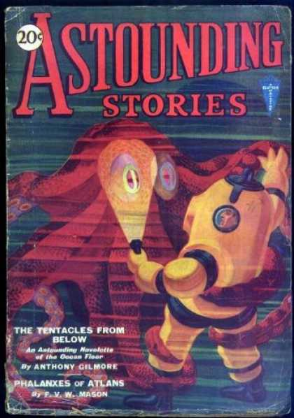 Astounding Stories 14 - The Tentacles From Below - Ocean Floor - Octopus - Anthony Gilmore - Phalanxes Of Atlans