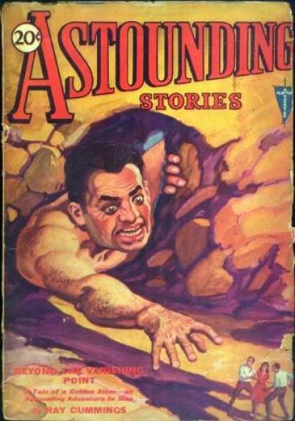 Astounding Stories 15 - Cummings - Beyond The Vanishing Point - Shrinking - 20 Cents - Sci-fi