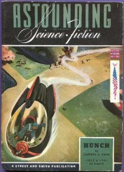 Astounding Stories 152 - Hunch - Spaceship - July 1941 - Clifford - Crash