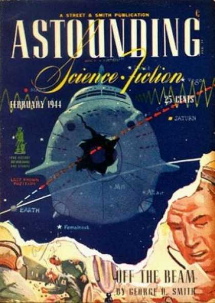 Astounding Stories 159 - Science Fiction - February 1944 - Saturn - Space - Spaceship
