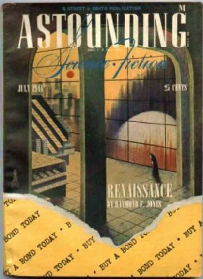 Astounding Stories 164 - Renaissance - July 1941 - Building - Figure - Archway