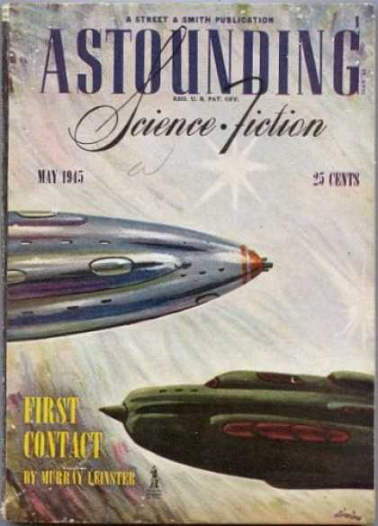 Astounding Stories 174 - First Contact - May 1945 - Space Craft - Stars - Wind