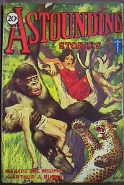 Astounding Stories 18 - Chimpancy - One Girl - Thick Forest - Sleeping Man - Arthur J