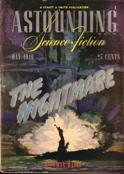 Astounding Stories 186 - Explosion - Bomb - Statue Of Liberty - Disaster - Chaos