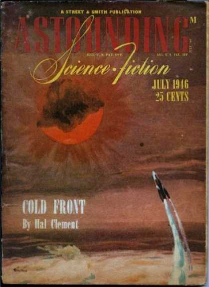 Astounding Stories 188 - July 1946 - Cold Front - Hal Clement - Sun - Spacecraft