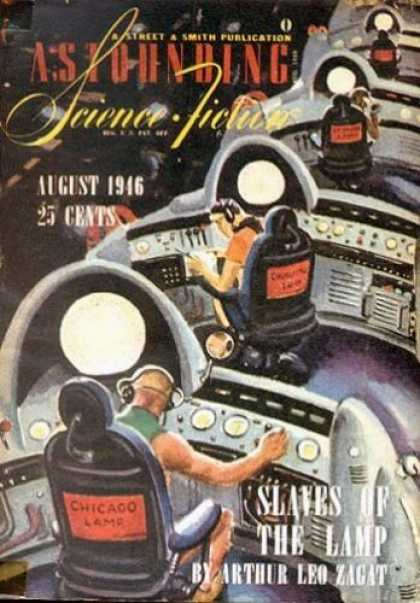 Astounding Stories 189 - August 1946 - Space - Command Station - Slaves Of The Lamp - Buttons