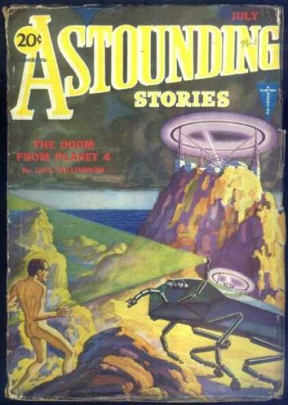 Astounding Stories 19 - The Doom From Planet 4 - July - Planet - Space - Space Craft
