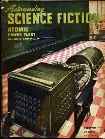Astounding Stories 195 - Plant - Atomic Power Plant - Machine - February 1947 - Laboratory