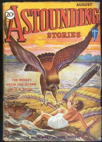 Astounding Stories 20 - Bird - August - The Midget From The Island - Swiss Army Knife - Plank