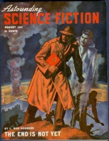 Astounding Stories 201 - Ghost - Trenchcoat - August 1947 - Hubbard - The End Is Not Yet