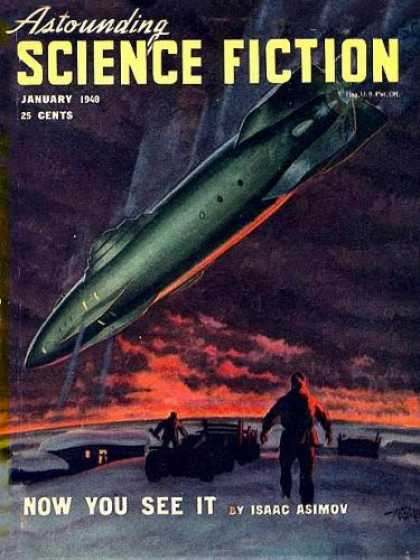 Astounding Stories 206 - January 1940 - 25 Cents - Spaceship - Now You See It - Asimov
