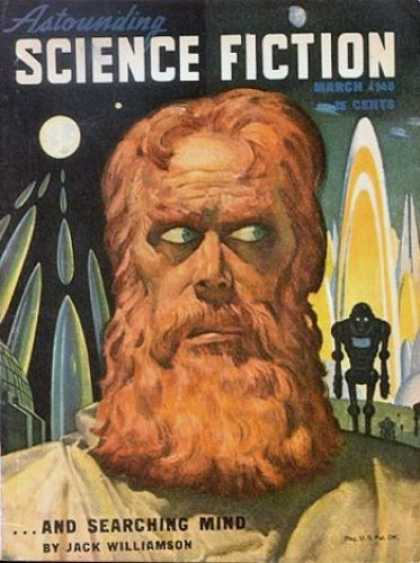 Astounding Stories 208 - And Searching Mind - Jack Williamson - March - Bearded Man - Robot