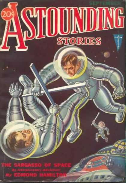Astounding Stories 21 - September - Space - Fight - Astronauts - The Sargasso Of Space