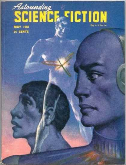 Astounding Stories 210 - May - Headphones - Three Men - Invisible Man - Atom