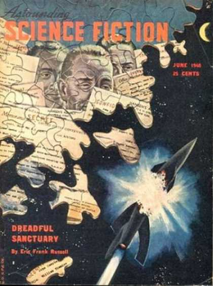 Astounding Stories 211 - Puzzle Pieces - Dreadful Sanctuary - Russell - Exploding Craft - Faces