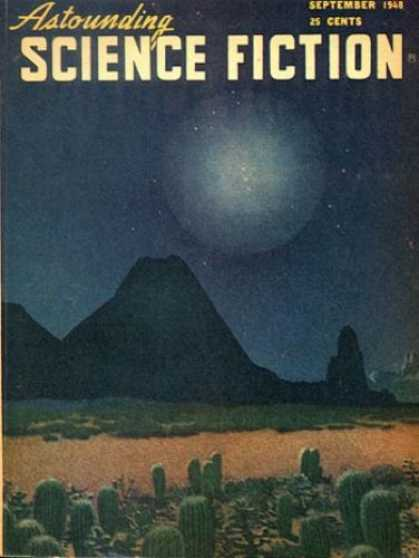 Astounding Stories 214 - Cactus - Desert - September 1948 - Moutain - Planet
