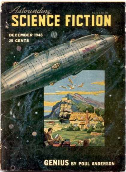 Astounding Stories 217 - December 1948 - Spaceship - Genius - Ship - Birds
