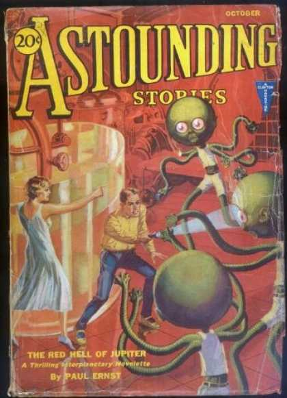 Astounding Stories 22 - The Red Hell Of Jupiter - October - Alein - Attack - Lab