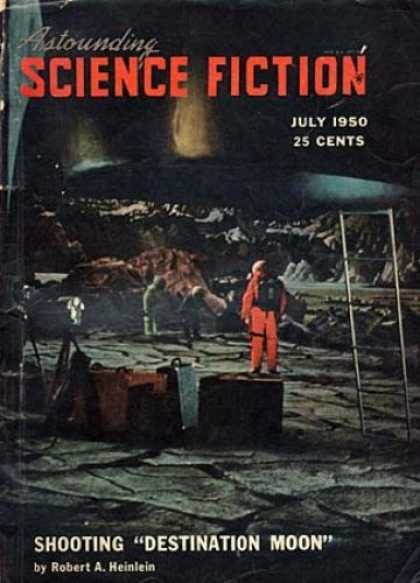 Astounding Stories 236 - July 1950 - Shooting Destination Moon - Astronaut - Space Ship - Men On Moon
