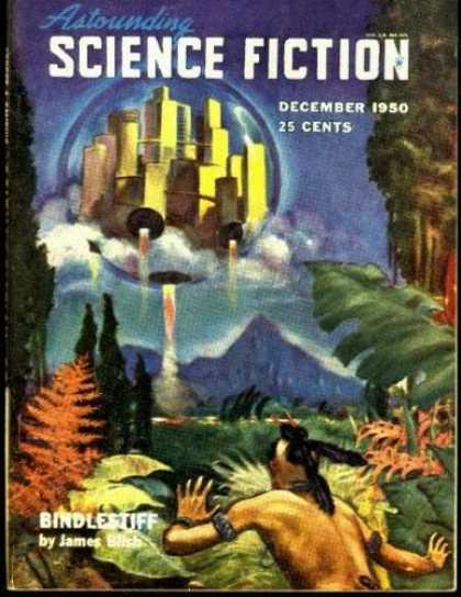 Astounding Stories 241 - Bindlesuff - December 1950 - Tropical Forest - Native - Space Craft