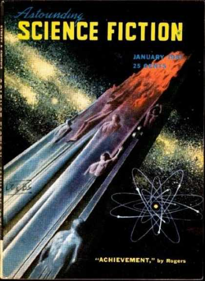 Astounding Stories 242 - January 1951 - Achievement - Space - Humanoids - Space Craft