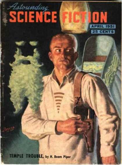 Astounding Stories 245 - April 1951 - Disembodied Beard - Temple Trouble - Piper - Headless