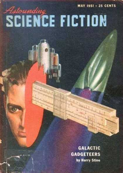 Astounding Stories 246 - May 1951 - 25 Cents - Spaceship - Stine - Galactic Gadgeteers