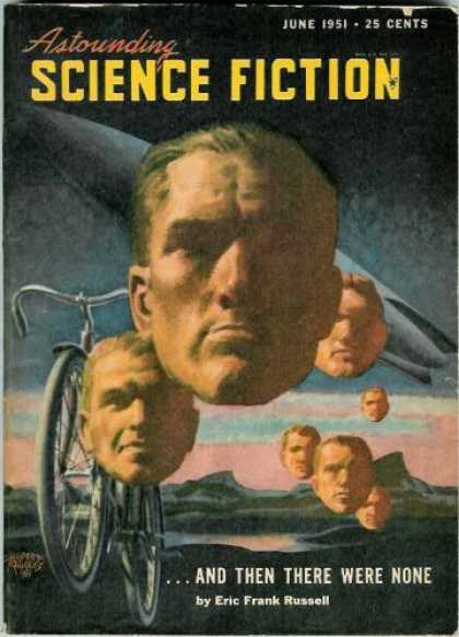 Astounding Stories 247 - Bicycle - June 1951 - Disembodied Heads - And Then There Were None - Russell