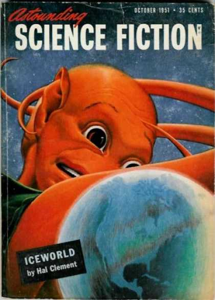Astounding Stories 251 - Iceworld - October 1951 - Alien - Planet - Space