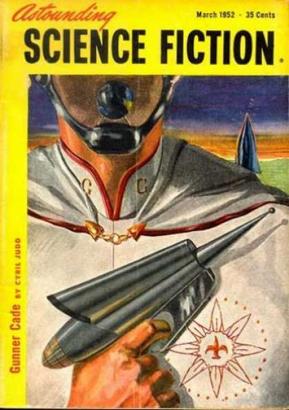 Astounding Stories 256 - Brave Man - Holding Gun - Research - Head Mic Phone - Cyail Judo
