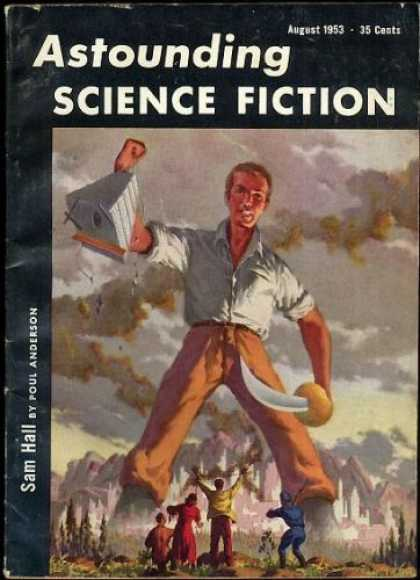 Astounding Stories 273 - Vintage - Giant Man - Sci-fi Adventure - August 1953 - Sam Hall