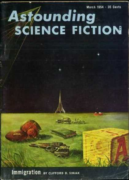 Astounding Stories 280 - March 1954 - Immigration - Clifford D Simark - Football - Space Ship
