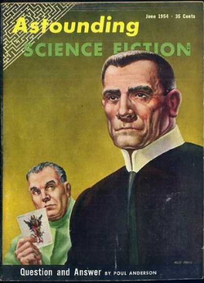 Astounding Stories 283 - Sci-fi - June 1954 - Poul Anderson - Question And Answer - Maze
