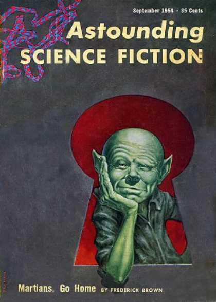 Astounding Stories 286 - September 1954 - Martians - Green Man - Keyhole - Dna