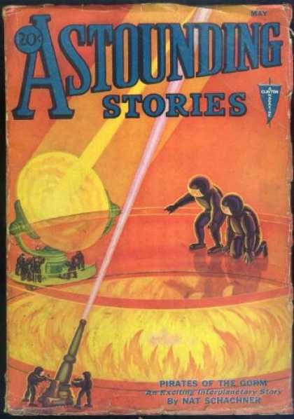 Astounding Stories 29 - Fire - Bright Lights - Space Men - Lasers - Rays