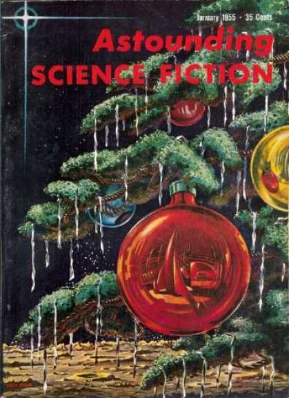 Astounding Stories 290 - January 1955 - Christmas Tree - Bulbs - Space - Planet