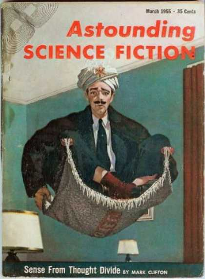 Astounding Stories 292 - Science Fiction - March 1955 - Sense From Thought Divide - Mark Clifton - 35 Cents