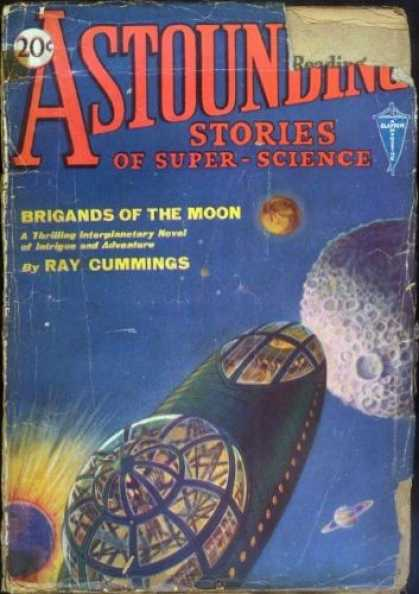 Astounding Stories 3 - Ray Cummings - Space Ship - Briggands Of The Moon - Saturn - Adventure