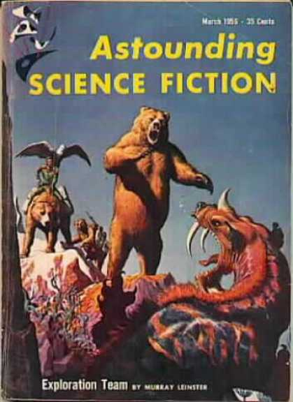 Astounding Stories 304 - Exploration Team - Bears - Eagles - Monster - Creatures