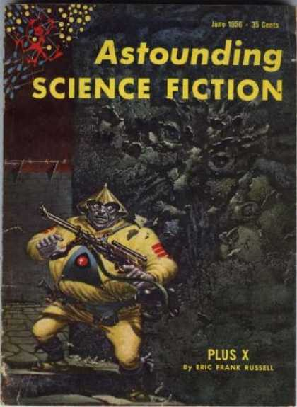 Astounding Stories 307 - Science Fiction - June 1956 - 35 Cents - Plus X - Eric Frank Russell