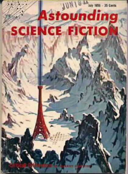 Astounding Stories 308 - July 1956 - Moutains - Snow - Satelite - Signal